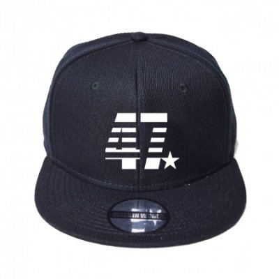snap back cap (47☆) <br>black