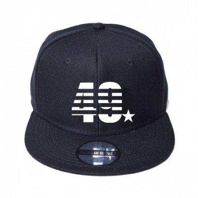 snap back cap (49☆) <br>black