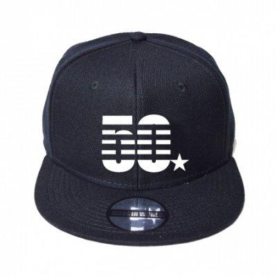snap back cap (50☆) <br>black