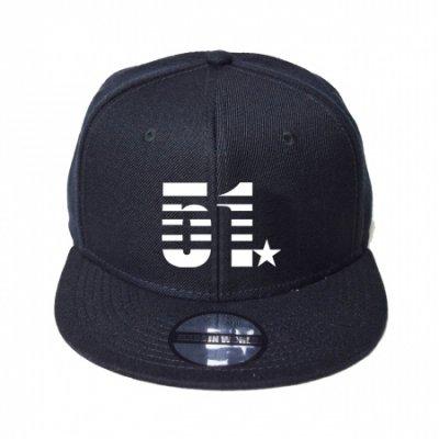 snap back cap (51☆) <br>black