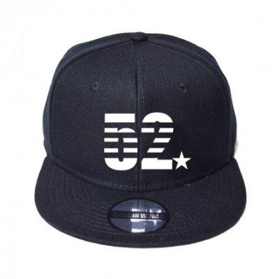 snap back cap (52☆) <br>black
