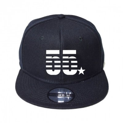 snap back cap (55☆) <br>black