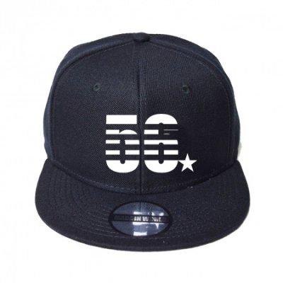 snap back cap (56☆) <br>black