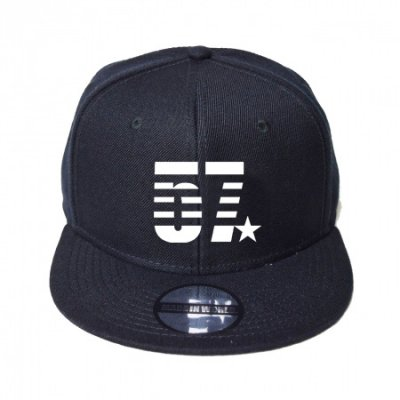 snap back cap (57☆) <br>black