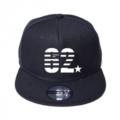 snap back cap (62☆) <br>black