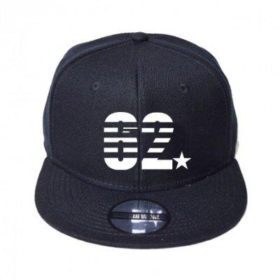 snap back cap (62☆) <br>black