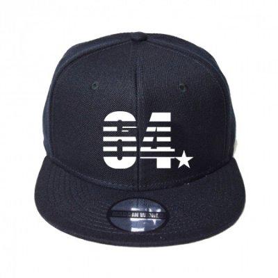 snap back cap (64☆) <br>black