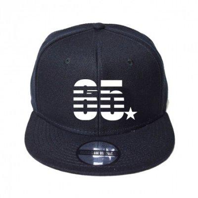snap back cap (65☆) <br>black