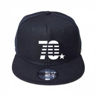 snap back cap (70☆) <br>black