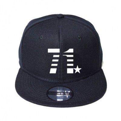 snap back cap (71☆) <br>black