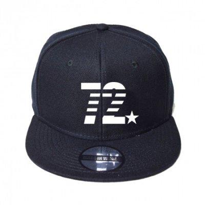 snap back cap (72☆) <br>black