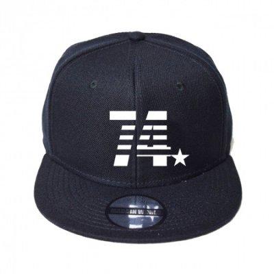 snap back cap (74☆) <br>black