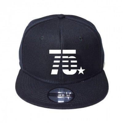 snap back cap (75☆) <br>black