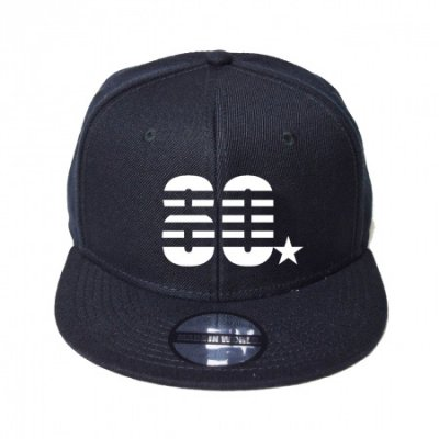 snap back cap (80☆) <br>black