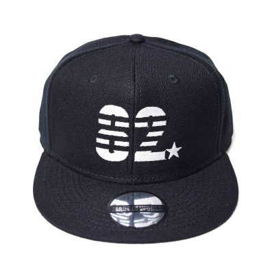 snap back cap (82☆) <br>black