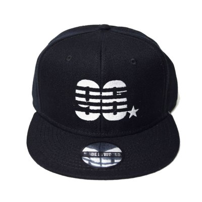 snap back cap (96☆) <br>black