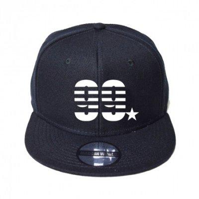 snap back cap (99☆) <br>black