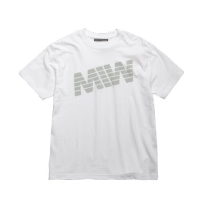 crew neck tee <br />(logo) white