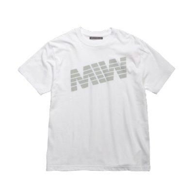 crew neck tee <br />(logo) white
