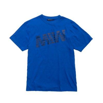 crew neck tee <br />(logo) blue