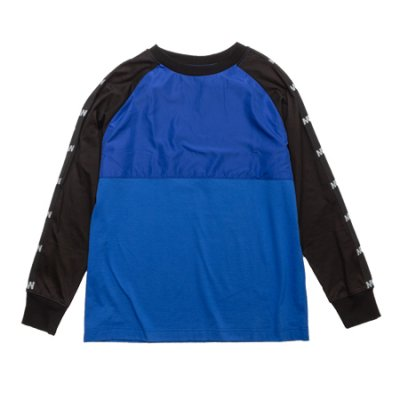 [予約]crew neck long sleeve tee <br />(switching) blue