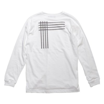 crew neck long sleeve tee <br />(crossing) white