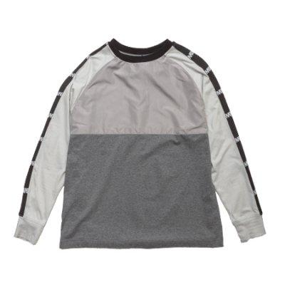 [予約]crew neck long sleeve tee <br />(switching) gray