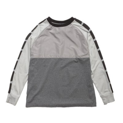 crew neck long sleeve tee <br />(switching) gray