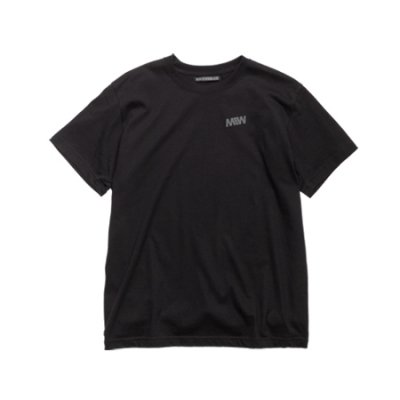 crew neck tee <br />(one point) black