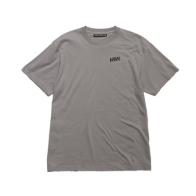 crew neck tee <br />(one point) gray