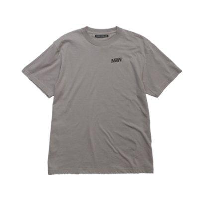 crew neck tee <br />(one point) gray
