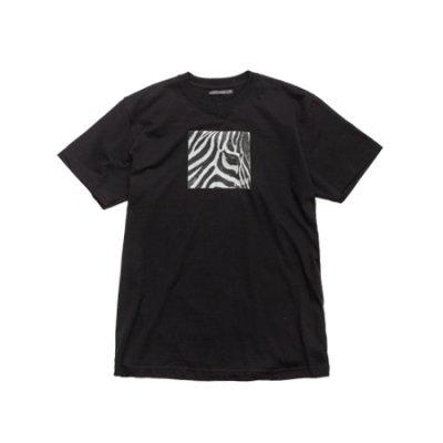 crew neck tee <br />(zebra) black
