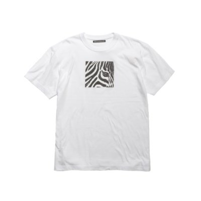 crew neck tee <br />(zebra) white
