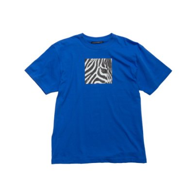 crew neck tee <br />(zebra) blue