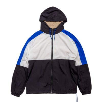 nylon jacket white × black