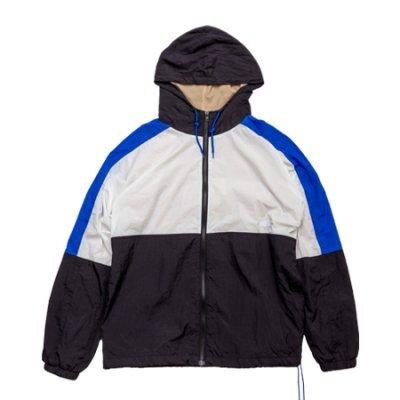 nylon jacket white × black