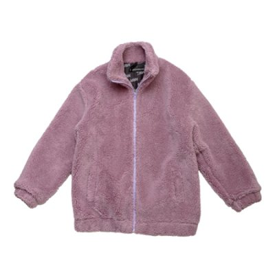 boa jacket light purple