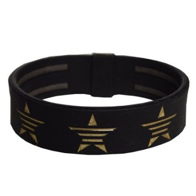 star band (phiten × MADE IN WORLD) black×gold