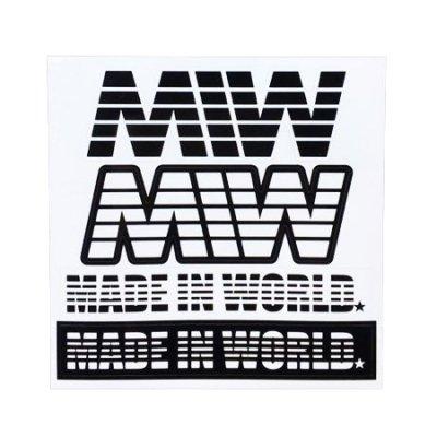 logo sticker  black×white