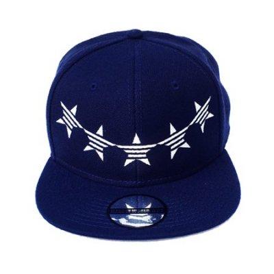down arch star cap navy × silver