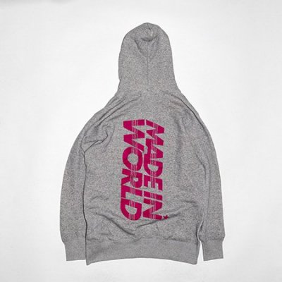 pull over hoodie<br />sweat  (neon logo) gray