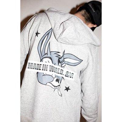 full zip hoodie<br />sweat (magic rabbit) gray