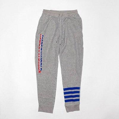 tricolore long pants <br />gray