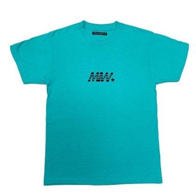 crew neck tee <br />(MIW) aqua