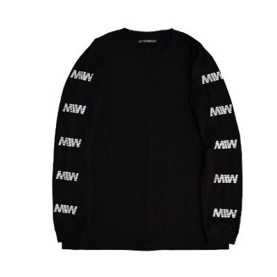 <img class='new_mark_img1' src='https://img.shop-pro.jp/img/new/icons14.gif' style='border:none;display:inline;margin:0px;padding:0px;width:auto;' />crew neck long sleeve tee <br />(MIW) black