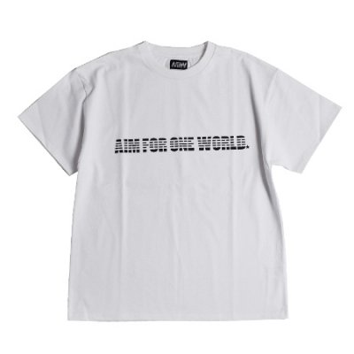 <img class='new_mark_img1' src='https://img.shop-pro.jp/img/new/icons14.gif' style='border:none;display:inline;margin:0px;padding:0px;width:auto;' />heavy weight crew neck tee <br />(AIM FOR ONE WORLD) white
