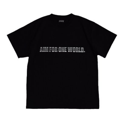 <img class='new_mark_img1' src='https://img.shop-pro.jp/img/new/icons14.gif' style='border:none;display:inline;margin:0px;padding:0px;width:auto;' />heavy weight crew neck tee <br />(AIM FOR ONE WORLD) black
