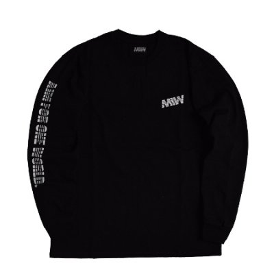<img class='new_mark_img1' src='https://img.shop-pro.jp/img/new/icons14.gif' style='border:none;display:inline;margin:0px;padding:0px;width:auto;' />heavy weight crew neck long sleeve tee <br />(AIM FOR ONE WORLD) black