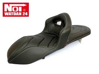 NOI WATDAN  HONDA PCX125・PCX160・PCX150 ローダウン シングルバケットシート カーボンブラック/ホワイトステッチ 期間限定!8月末まで送料無料!