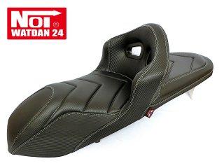 NOI WATDAN HONDA PCX125・PCX160・PCX150 ローダウン シングルバケットシート GEL入り カーボンブラック/ホワイトステッチ 期間限定!8月末まで送料無料!